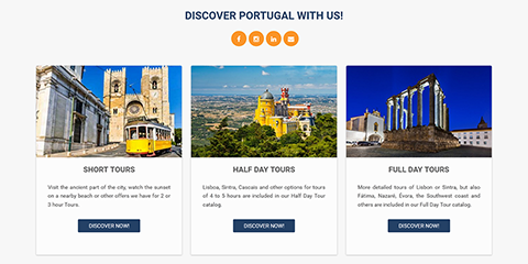 This travel site uses RAXO Bricks layout on the mainpage to display the best tour proposals their clients shouldn't miss.