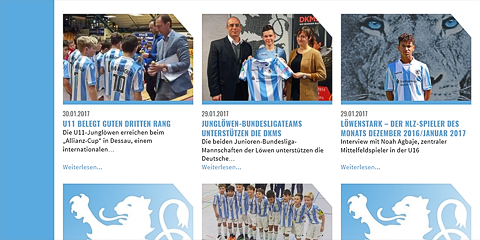 Display important events and news of the football youth club on the mainpage. Using club logo as a default image makes this page cool and individual.